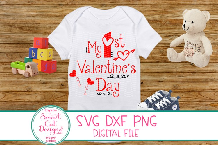 1st Valentine's Day SVG, Kids Valentine SVG, Kids Love SVG example image 1