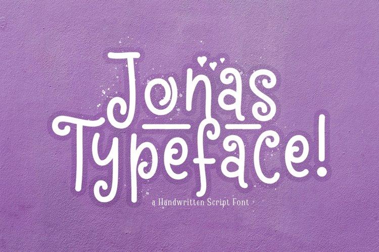 Web Font Jonas example image 1