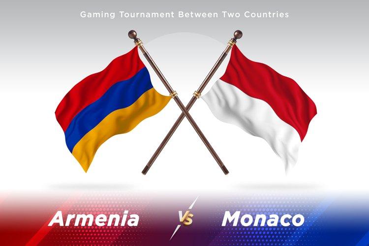 Armenia versus Monaco Two Flags example image 1