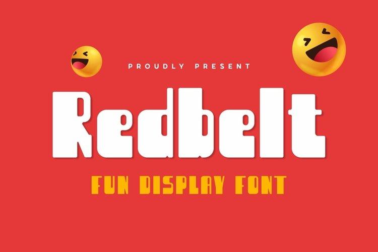 Web Font Redbelt Font example image 1