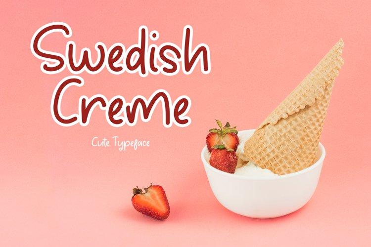 Swedish Creme Cute Typeface example image 1