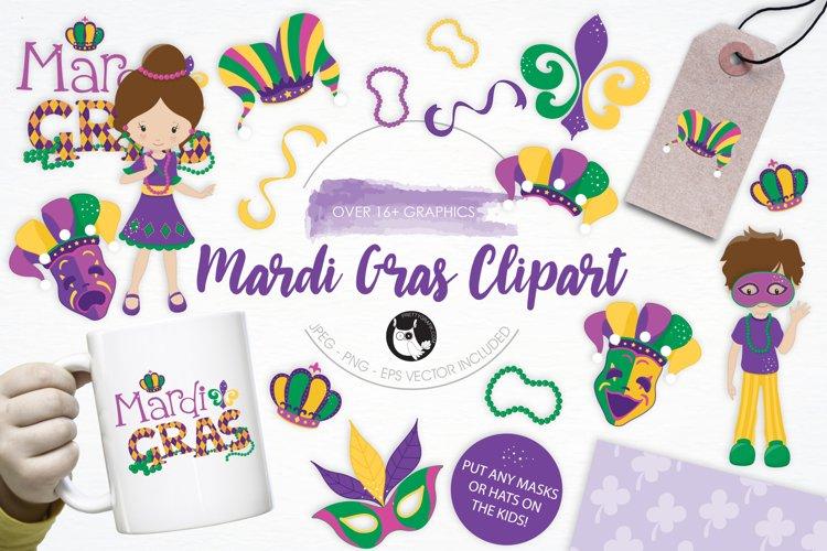 Mardi Gras Clipart graphics and illustrations
