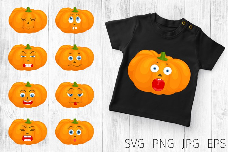 Pumpkin faces. halloween svg bundle. example image 1