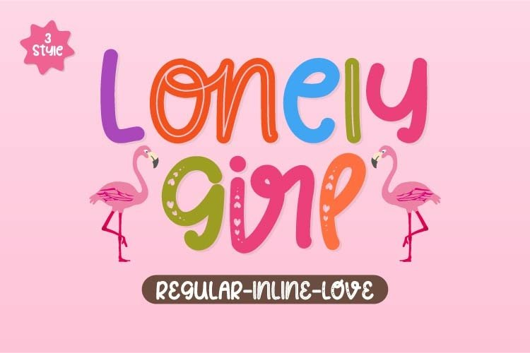Lonely Girl - Playful Display Font example image 1