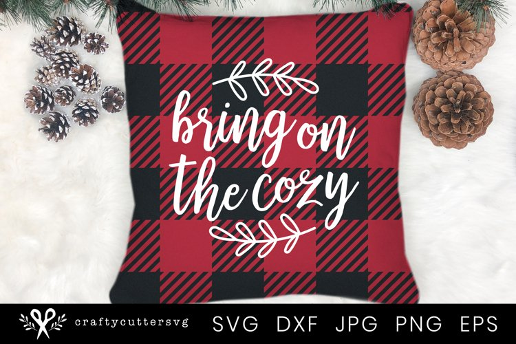 Winter Quote Svg   Winter Pillow Svg Cut File for Cricut example image 1