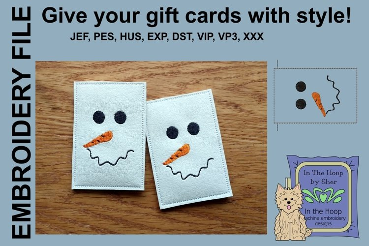 ITH Simple Snowman Gift Card Holder example image 1