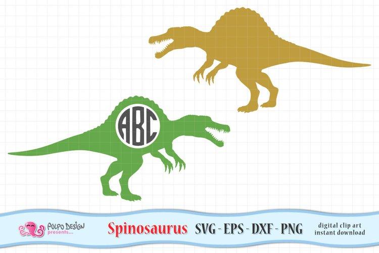 Spinosaurus Monogram SVG, Eps, Dxf, Png