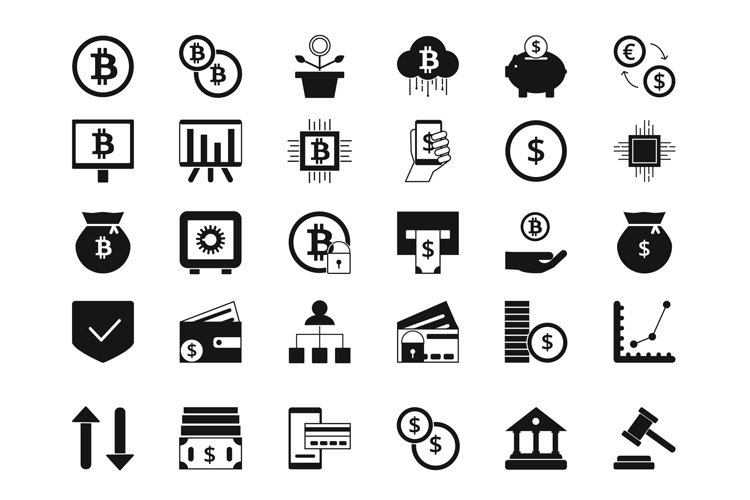 Coins, bitcoin, digital money and other symbols of finance. example image 1