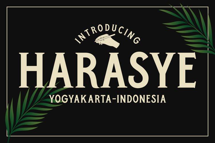 Harasye Font