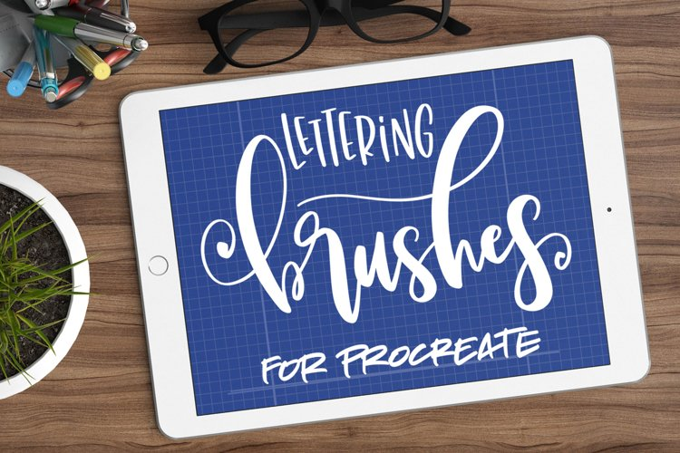 Nine Procreate Brushes for Lettering example image 1