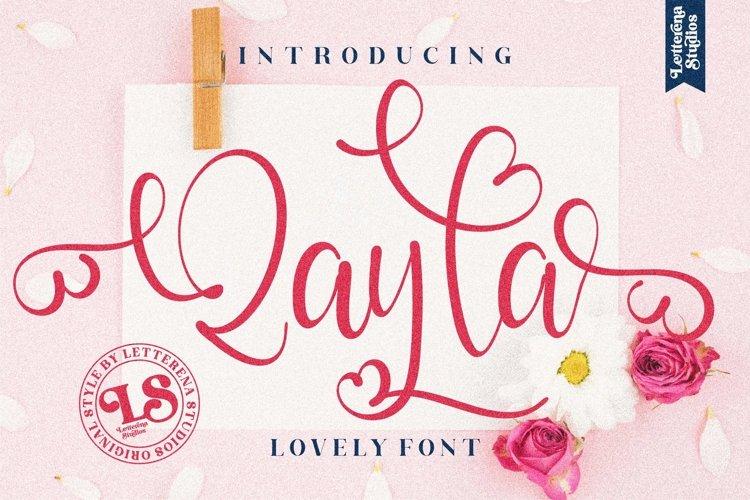 Qayla - Beautiful Lovely Script Font example image 1