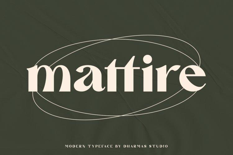Mattire - Modern Serif Typeface example image 1