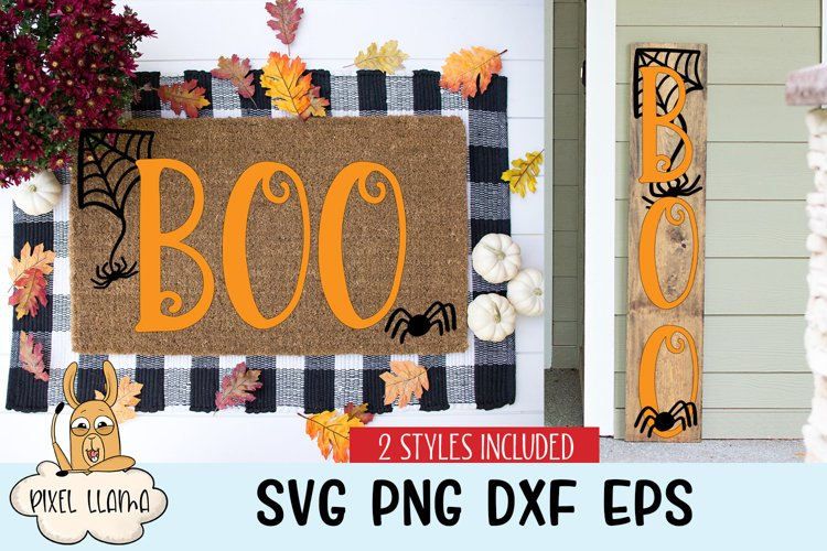 Boo Halloween Sign SVG 2 Styles Included example image 1