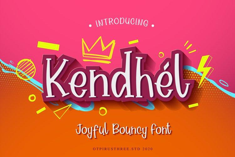 Kendhel Joyful and Bouncy Font