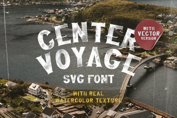 Center Voyage - SVG Font example image 1