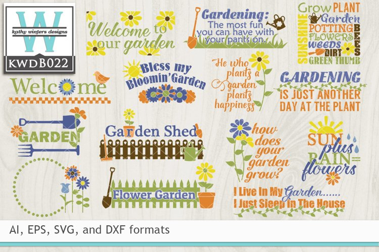 BUNDLED Gardening Cutting Files KWDB022