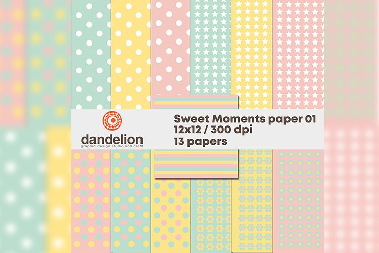 """""""Sweet moments"""" paper 01 example image 1"""