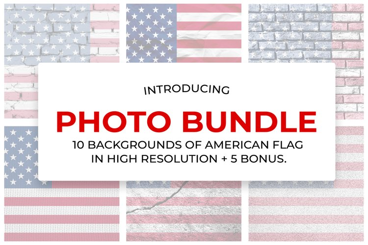 10 backgrounds of the American flag in high resolution.