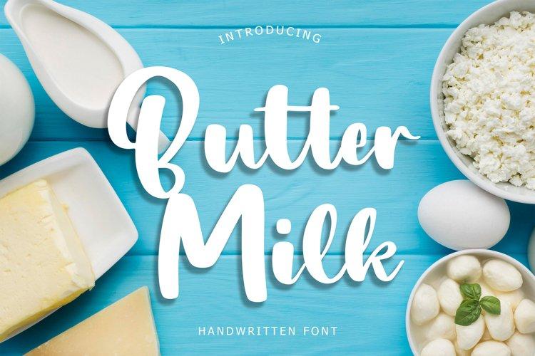 Butter Milk Handwritten Font example image 1