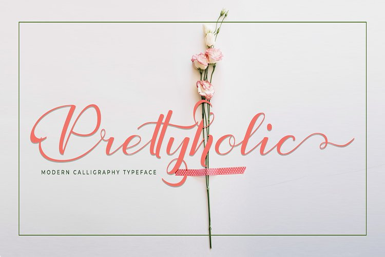 Prettyholic |Script Typeface example image 1