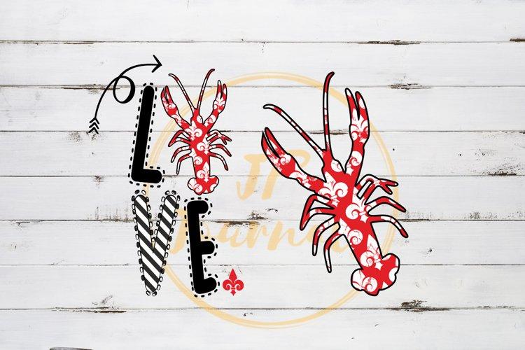 Crawfish Love Sublimation Design PNG