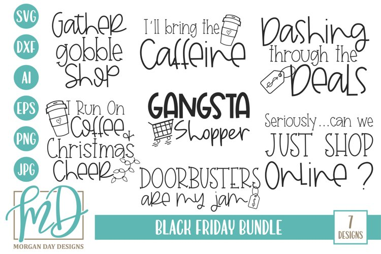 Thanksgiving - Christmas - Black Friday Bundle SVG example image 1