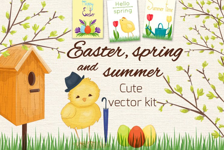 Spring vector set example image 1