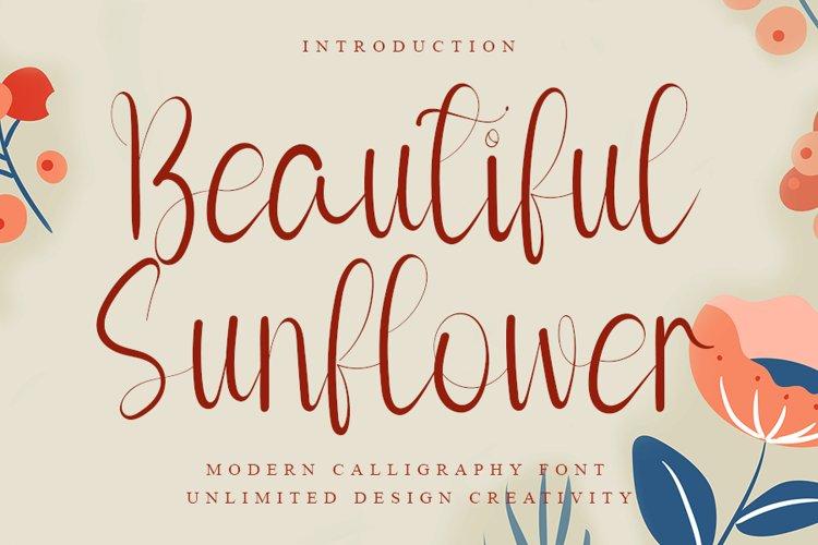 Beautiful Sunflower example image 1