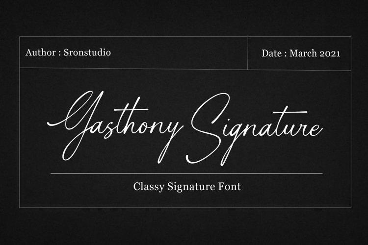 Gasthony - Signature Font