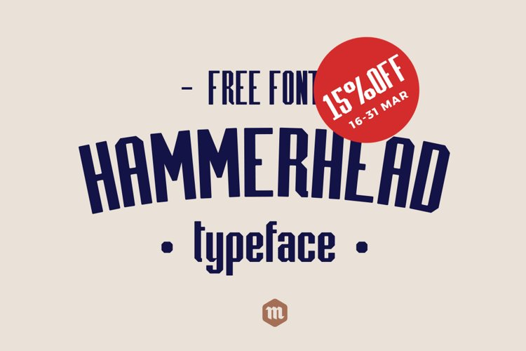 Hammerhead Typeface | Font example image 1