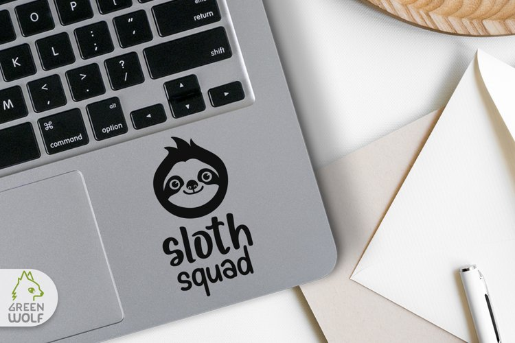 Funny svg Sloth face svg Cute animals svg Funny Sloth squad example 2