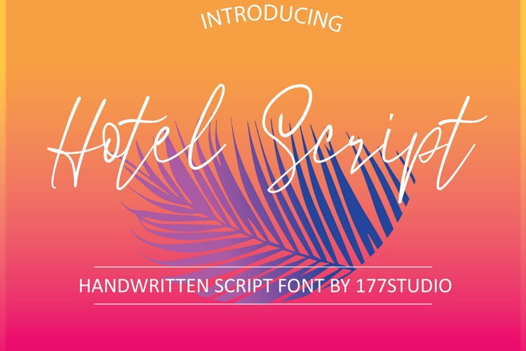 Hotel Script Font example image 1