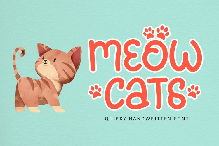 Meowcats - A Quirky Font Special For Cats Lover example image 1