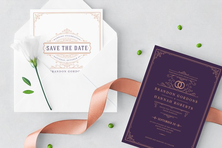 Wedding Invitations Cards Templates example image 1