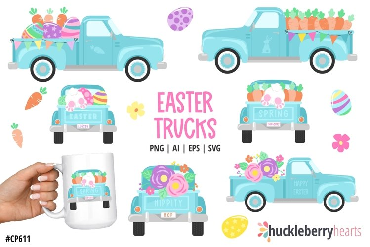 Easter Truck Clipart