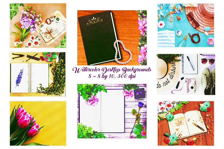 Desk Top/Table Top Watercolor Backgrounds