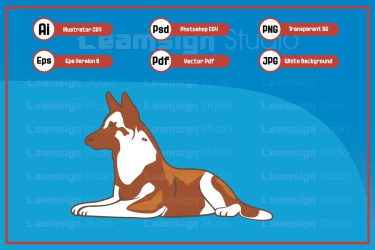 Sitting dog character illustration example image 1