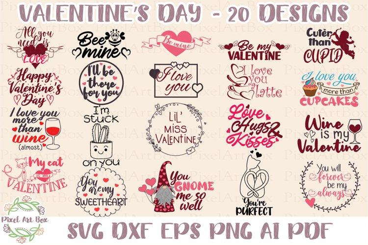 Valentines Day Bundle - 20 Designs - Cut Files