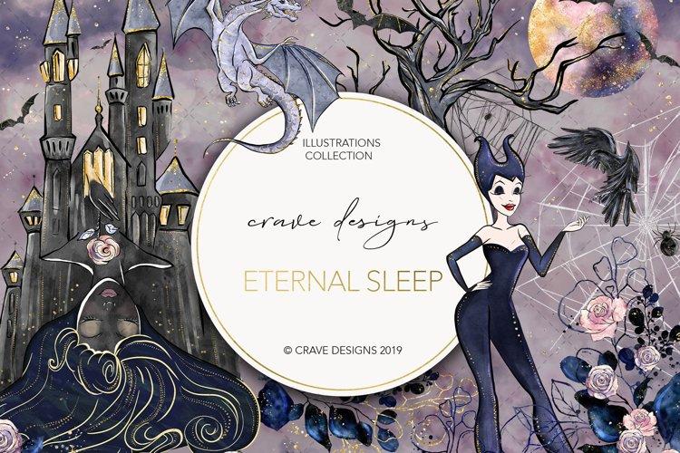 Eternal Sleep Clip Art example image 1