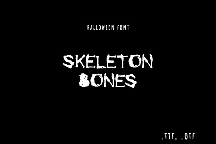 Skeleton bones font example image 1