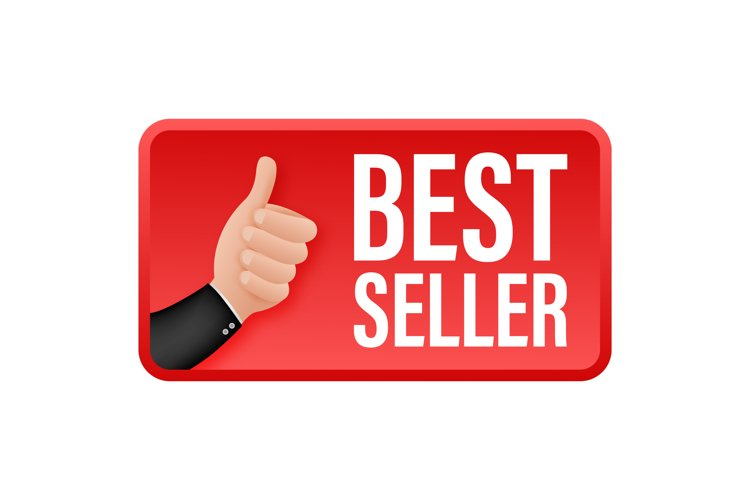 Best seller, thumbs up. Sale tag. Sale banner badge. example image 1