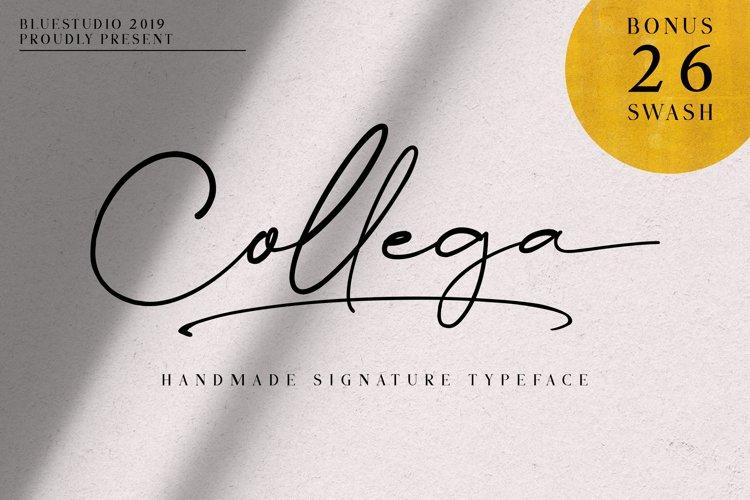 Collega // Handmade Signature Typeface example image 1