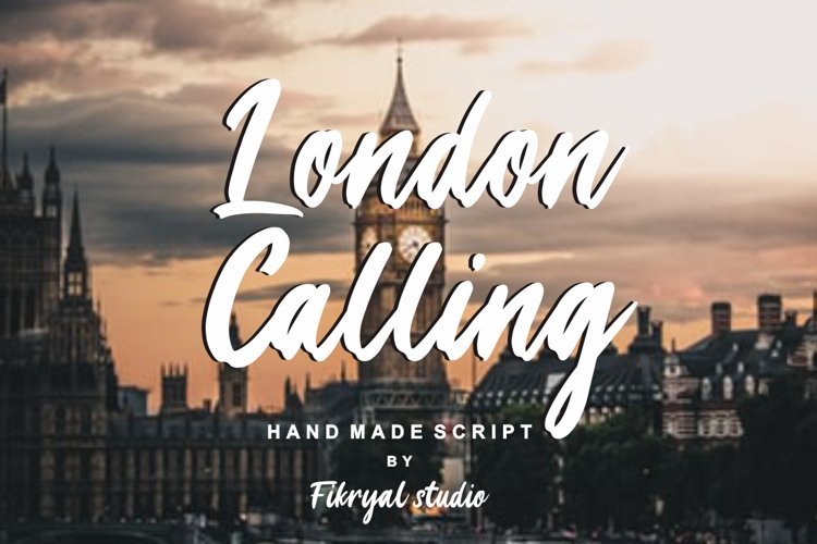 London Calling - Hand made script font example image 1