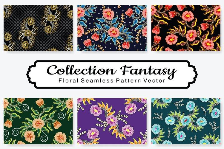 Set Of Fantasy Floral Vector Pattern Vol.13 example image 1