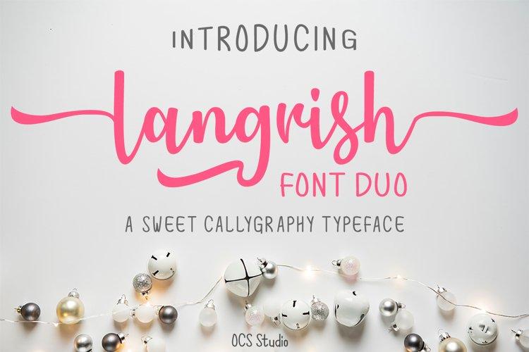 Langrish Font Duo example image 1