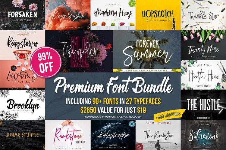 Premium Font Bundle example image 1