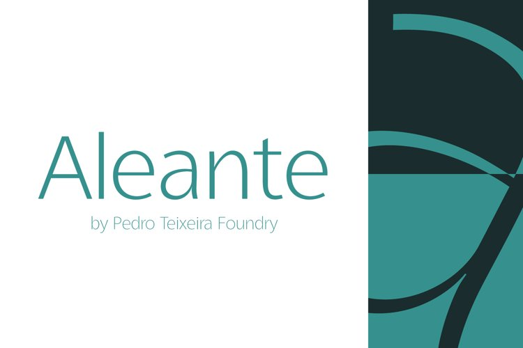 Aleante Sans ExtraLight example image 1