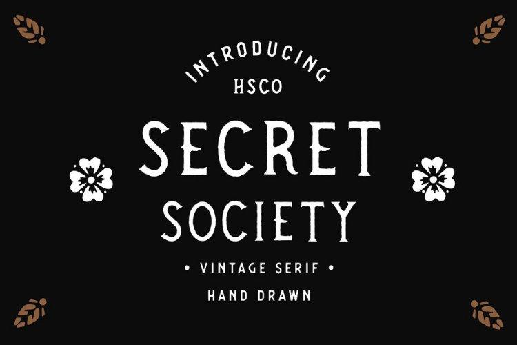 SECRET SOCIETY - A Vintage Serif