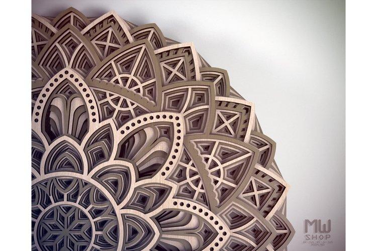 M19 - Circular Mandala Pattern, Layered Mandala DXF SVG example 4