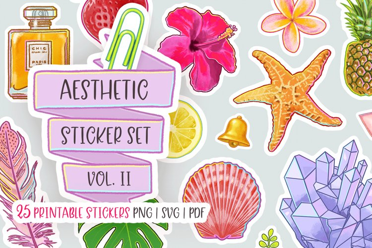 The Aesthetic Stickers Bundle Volume Two Cool Stickers